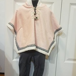 Bnwot fall hooded poncho set